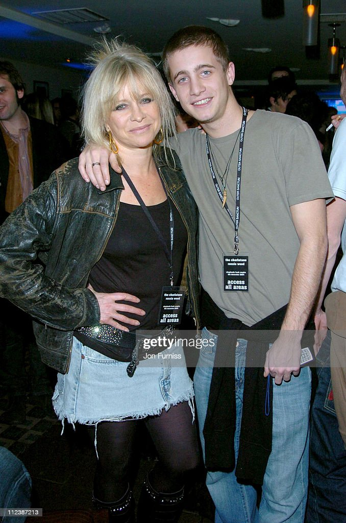 Jo Wood and Tyrone Wood during Hero2Hero Concert Sponsored by O2 Featuring The Charlatans & Ronnie Wood plus Guests at Shepherd Bush Empire in London, Great Britain.