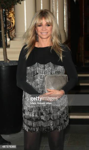 Jo Wood at the Connaught hotel for the Kate Moss x Top Shop Dinner on April 29 2014 in London England