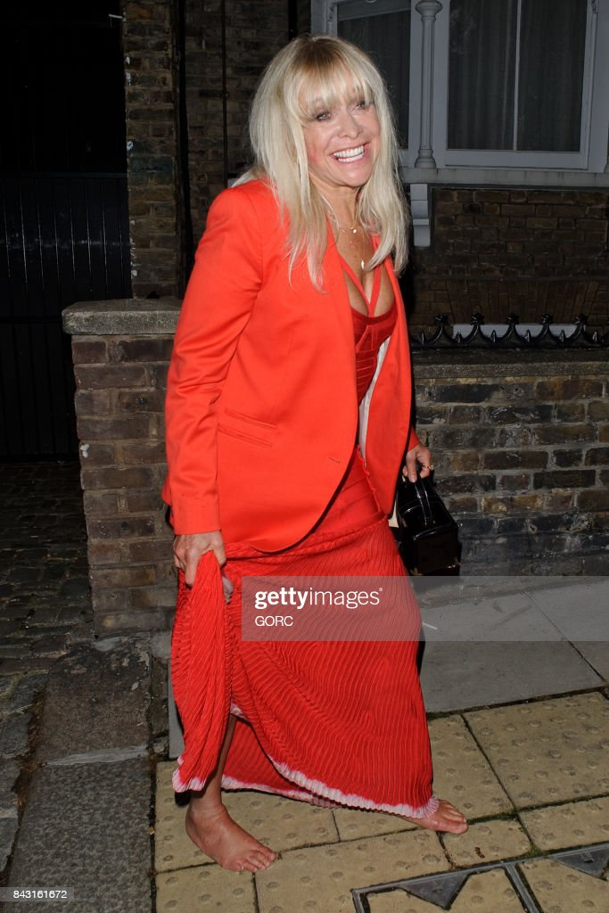 Jo Wood at the GQ awards afterparty in Primrose Hill on September 5, 2017 in London, England.