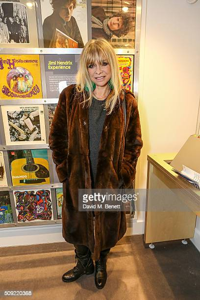 Jo Wood attends a private view of 'Hendrix At Home' at Jimi Hendrix's restored former Mayfair flat on February 9 2016 in London England