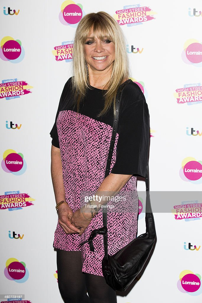 Jo Wood attends Lorraine's High Street Fashion Awards on May 21, 2014 in London, England.