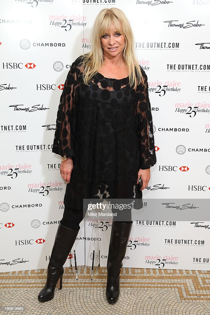 Jo Wood attends the 25th birthday party of Marie Claire at Hotel Cafe Royal on September 17, 2013 in London, England.