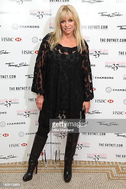 Jo Wood attends the 25th birthday party of Marie Claire at Hotel Cafe Royal on September 17 2013 in London England