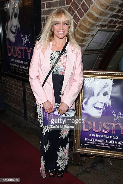 Jo Wood attends the gala night performance of 'Dusty' at the Charing Cross Theatre on July 14 2015 in London England