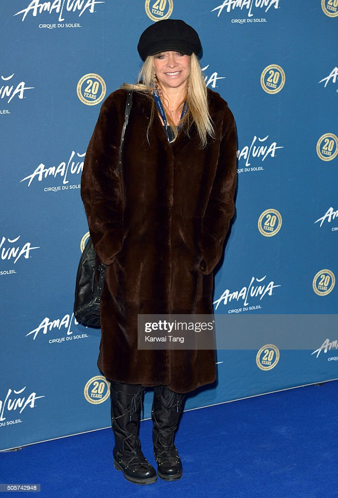 Jo Wood attends the Red Carpet arrivals for Cirque Du Soleil Amaluna at Royal Albert Hall on January 19, 2016 in London, England.