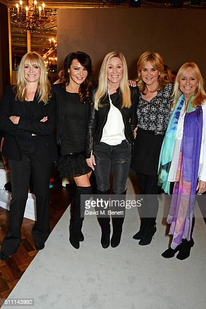 Jo Wood Lizzie Cundy Angie Best Anthea Turner and Susan George attend the first Fifty Plus Fashion Week hosted by JD Williams at Cafe Royal on...