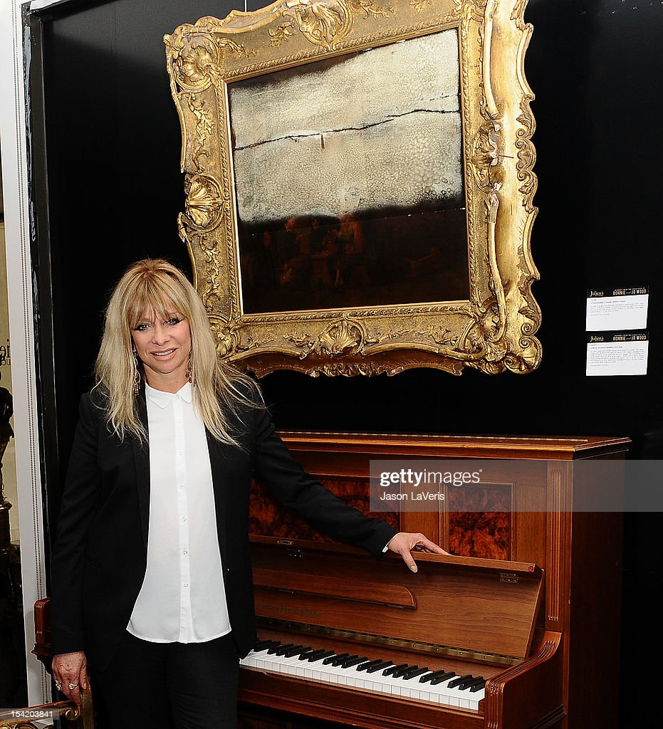 Jo Wood unveils the collection of Ronnie and Jo Wood at Julien's Auctions Gallery on October 15, 2012 in Los Angeles, California.