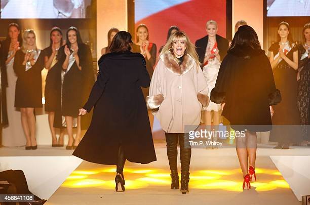 Jo Wood walks the runway for CoatWalk in aid of Macmillan Cancer Support at One Great George Street on October 4 2014 in London England