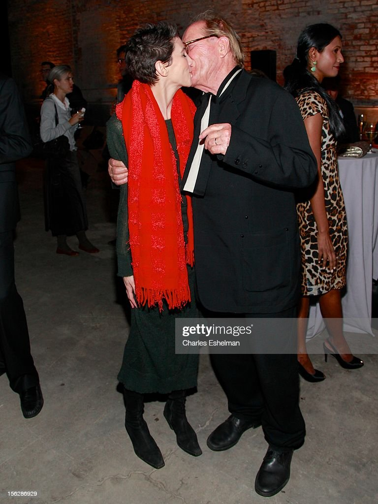 Joa Baldinge and Dia Co-Founder Heiner Friedrich attend the 2012 Dia Art Foundation's Gala at Dia Art Foundation on November 12, 2012 in New York City.
