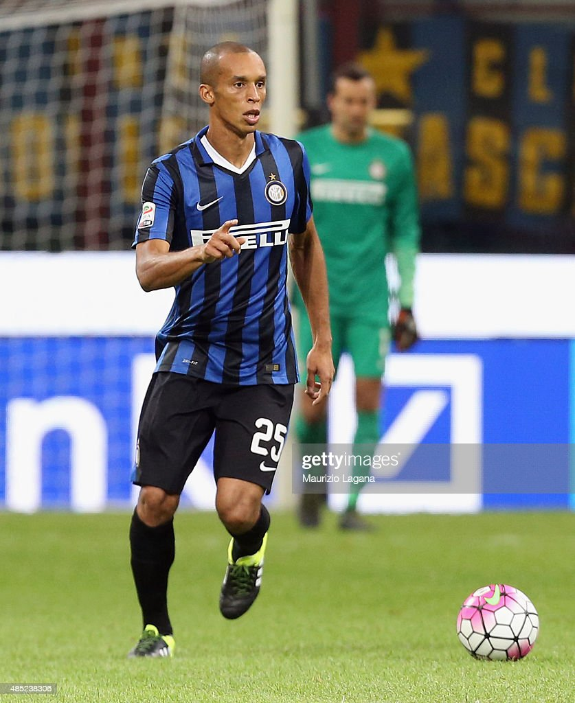 Joa Miranda of Inter during the Serie A match between FC Internazionale Milano and Atalanta BC at Stadio Giuseppe Meazza on August 23 2015 in Milan...