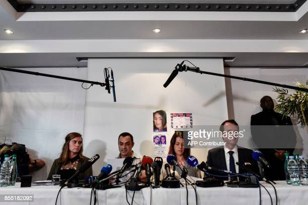 Joachim and Jennifer de Araujo parents of nineyearold Maelys who went missing from a wedding on August 27 address a press conference together with...