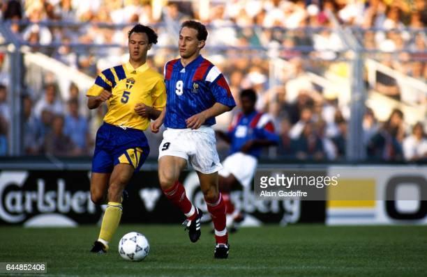 Joachim Bjorklund / Jean Pierre PAPIN Suede / France Championnats d'Europe 1992 Photo Alain Gadoffre / Icon Sport