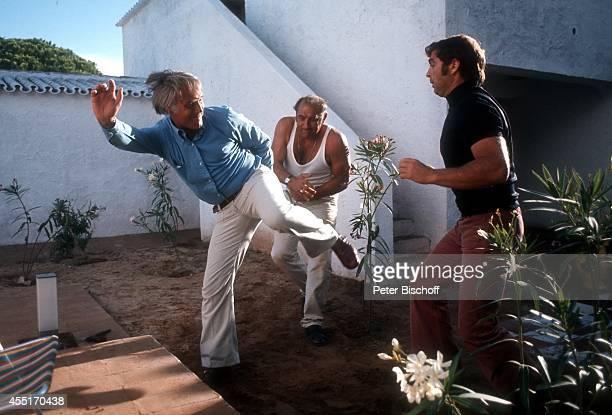 Joachim 'Blacky' Fuchsberger Hansi Waldherr Stuntman Kinofilm 'Ein Käfer gibt Vollgas' am in Portugal