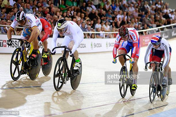Joachim Eilers of Germany wins the final of the Mens Keirin during the 2015 UCI Track Cycling World Cup on December 5 2015 in Cambridge New Zealand