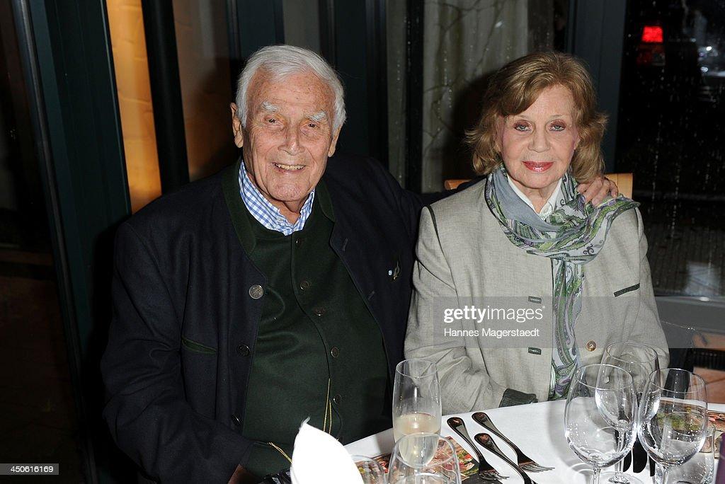 Joachim Fuchsberger and his wife Gundel Fuchsberger attend the Tuscan Wine Festival at Gruenwalder Einkehr on November 19, 2013 in Munich, Germany.