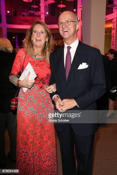 Joachim Graf von Arnim and his wife Dr Alexandra Graefin von Arnim during the PIN Party 'Let's party 4 art' at Pinakothek der Moderne on November 18...