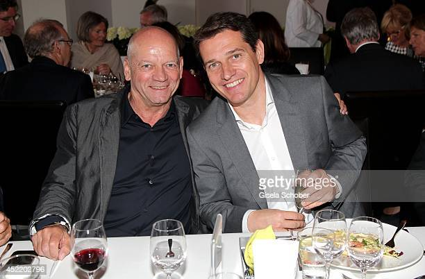 Joachim Hunold and Michael Mronz attend the CHIO 2014 media night on July 15 2014 in Aachen Germany
