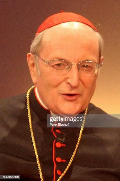 Joachim Kardinal Meisner Porträt ZDFJahresrückblickShow 'Menschen 2005' Rheingoldhalle Mainz Deutschland PNr 1469/2005 Portrait Brille Gala...