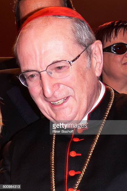 Joachim Kardinal Meisner ZDFJahresrückblickShow 'Menschen 2005' Rheingoldhalle Mainz Deutschland PNr 1469/2005 Brille Gala Geistlicher Promi BB Foto...