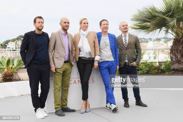 Joachim Lafosse Mohamed Diab Uma Thurman Reda Kateb and Karel Och attend Jury Un Certain Regard Photocall during the 70th annual Cannes Film Festival...