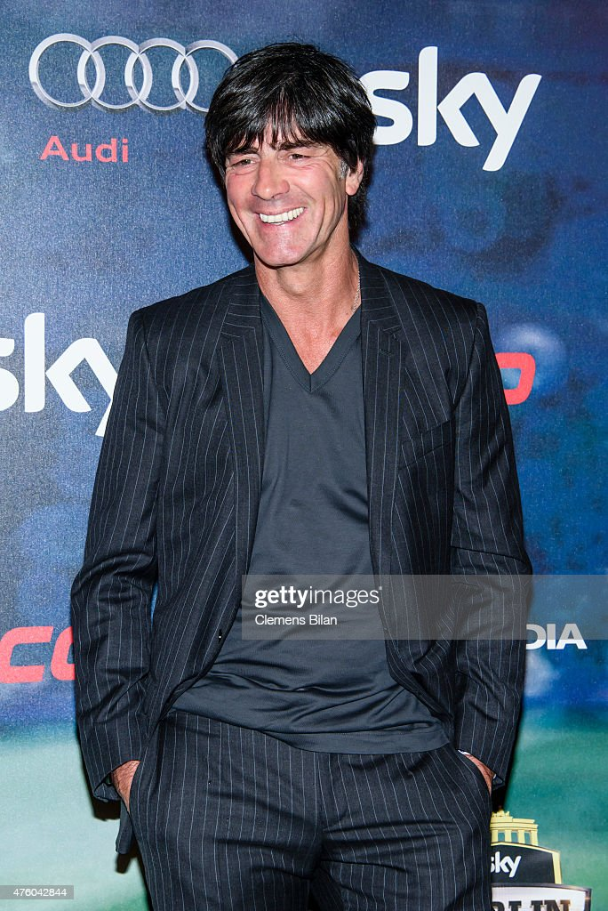 <a gi-track='captionPersonalityLinkClicked' href=/galleries/search?phrase=Joachim+Loew&family=editorial&specificpeople=215315 ng-click='$event.stopPropagation()'>Joachim Loew</a> attends the Sky Champions Night at The Grand on June 5, 2015 in Berlin, Germany.