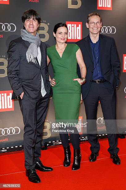 Joachim Loew Elisabeth Lanz and Michael Mueller attend the Bild 'Place to B' Party on February 07 2015 in Berlin Germany