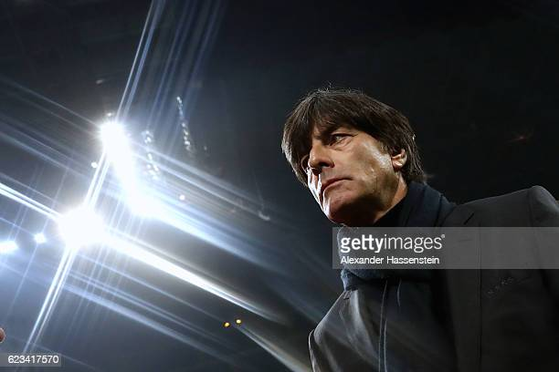 Joachim Loew head coach of Germany looks on prior to the International Friendly Match between Italy and Germany at Giuseppe Meazza Stadium on...