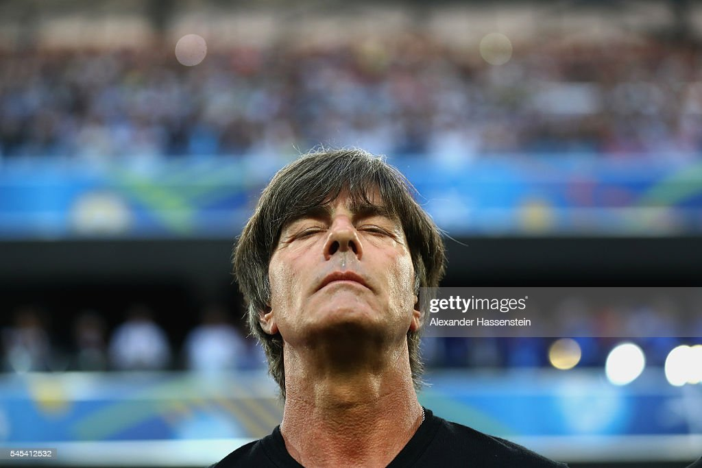 Joachim Loew head coach of Germany looks on prior to the UEFA EURO 2016 semi final match between Germany and France at Stade Velodrome on July 7 2016...