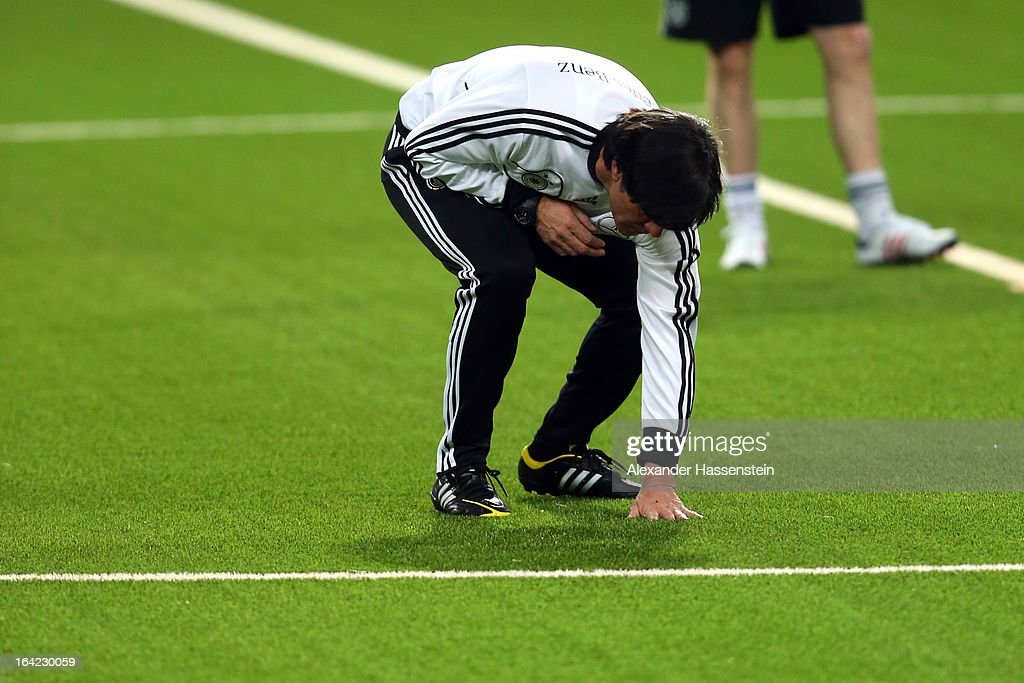Joachim Loew, head coach of the German national football team during a training session at Astana arena on March 21, 2013 in Astana, Kazakhstan.