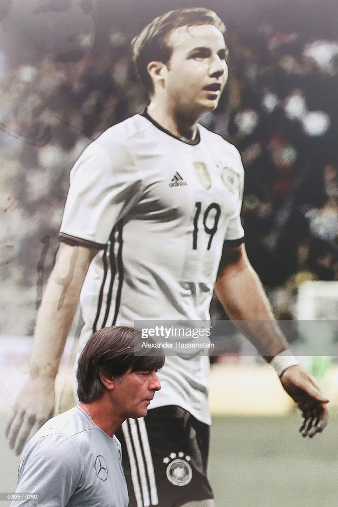 <a gi-track='captionPersonalityLinkClicked' href=/galleries/search?phrase=Joachim+Loew&family=editorial&specificpeople=215315 ng-click='$event.stopPropagation()'>Joachim Loew</a>, head coach of the German national team arrives for a press conference on day 8 of the German national team trainings camp on May 31, 2016 in Ascona, Switzerland.