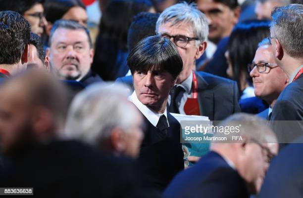 Joachim Loew Manager of Germany looks on during the Final Draw for the 2018 FIFA World Cup Russia at the State Kremlin Palace on December 1 2017 in...