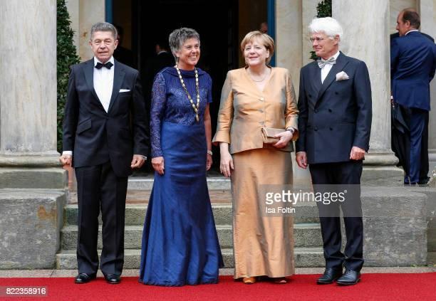 Joachim Sauer Brigitte MerkErbe German chancellor Angela Merkel and Thomas Erbe attend the Bayreuth Festival 2017 Opening on July 25 2017 in Bayreuth...