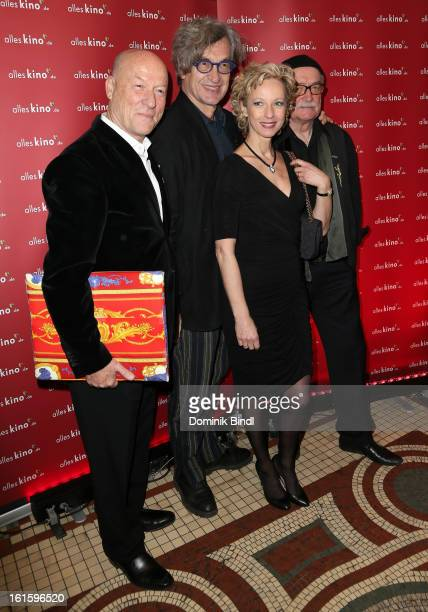 Joachim von Vietinghoff Wim Wenders Mareike Carriere and Hans W Geissendoerfer attend the Alles KinoDe Lounge during the 63rd Berlinale International...