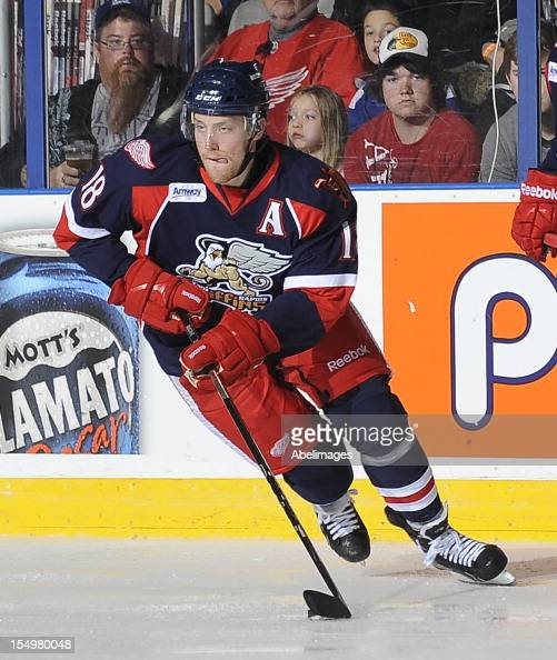 Joakim Andersson of the Grand Rapids Griffins skates during AHL game action against the Toronto Marlies October 21 2012 at the Ricoh Coliseum in...