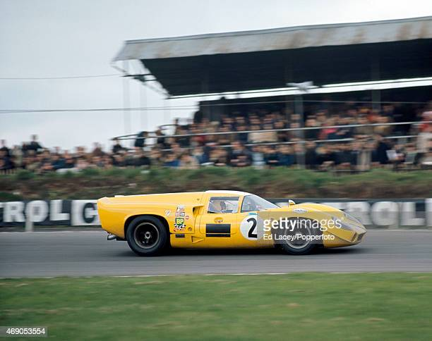Joakim Bonnier and Sten Axelsson of Sweden driving the Lola T70 Mk3 during the The Brands Hatch Six Hours BOAC International 500 World Championship...
