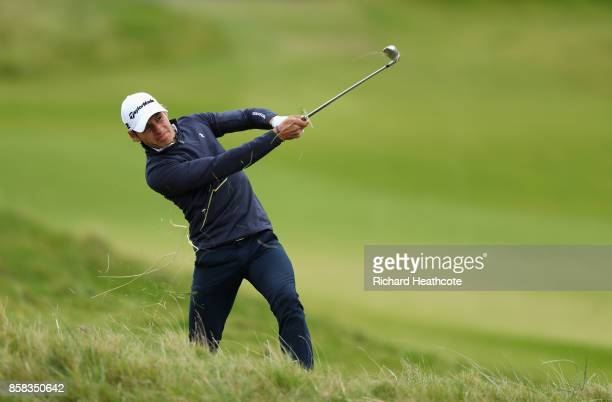 Joakim Lagergren of Sweden in action during day two of the 2017 Alfred Dunhill Championship at Kingsbarns on October 6 2017 in St Andrews Scotland