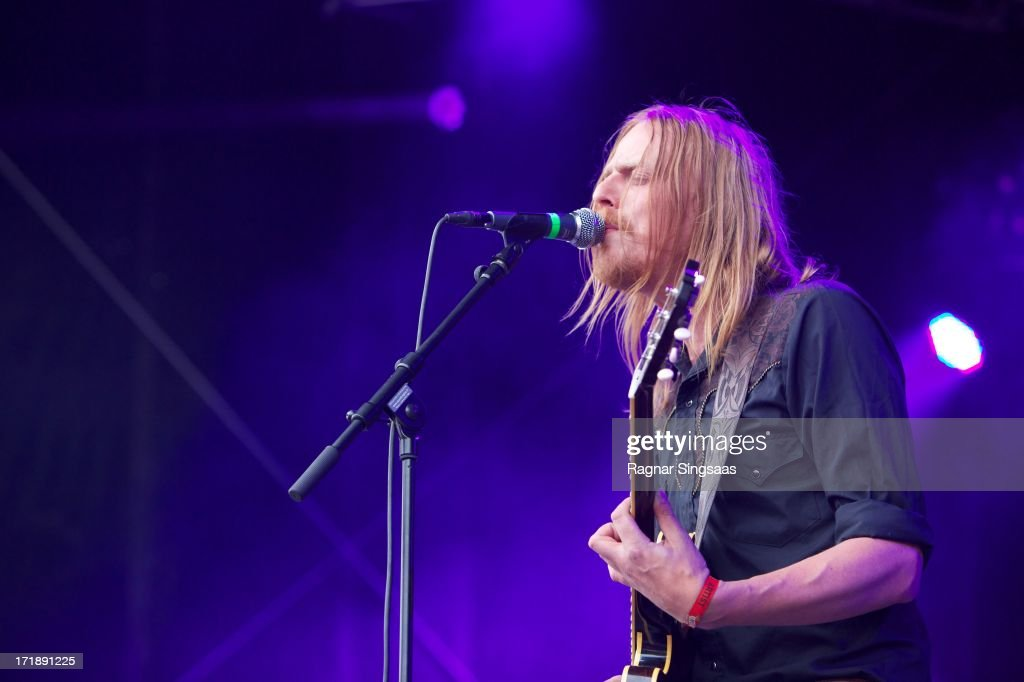 Joakim Nilsson of Graveyard performs on stage on Day 4 of Rock The Beach Festival on June 29, 2013 in Helsinki, Finland.