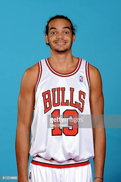 Joakim Noah of the Chicago Bulls poses for a portrait during 2009 NBA Media Day on September 25 3009 at the the Berto Center in Deerfield Illinois...
