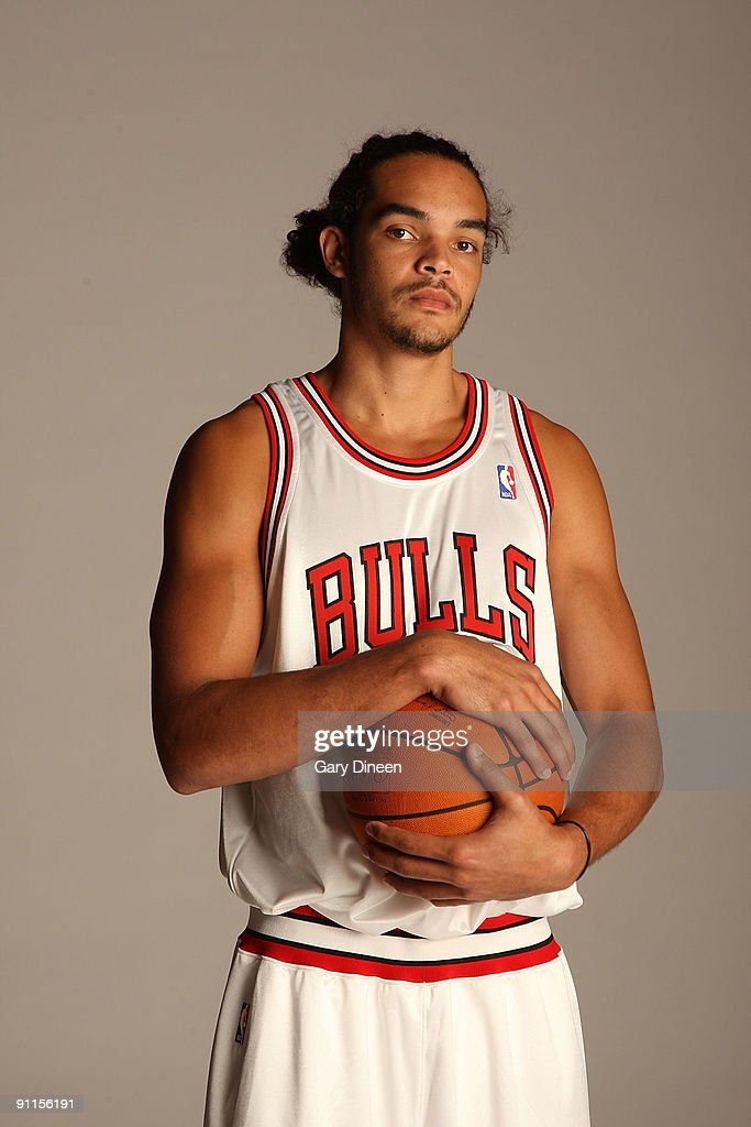 Joakim Noah #13 of the Chicago Bulls poses for a portrait during NBA Media Day on September 25, 2009 at the Berto Center in Deerfield, Illinois.