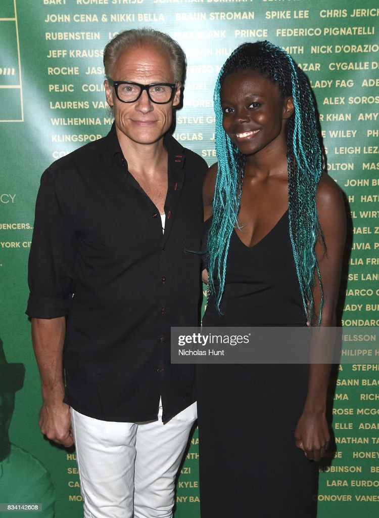 Joakim Von Ditmar and Destinee Ross attend the George Wayne's Annual Downtown 100 Party at Hotel Chantelle on August 17, 2017 in New York City.