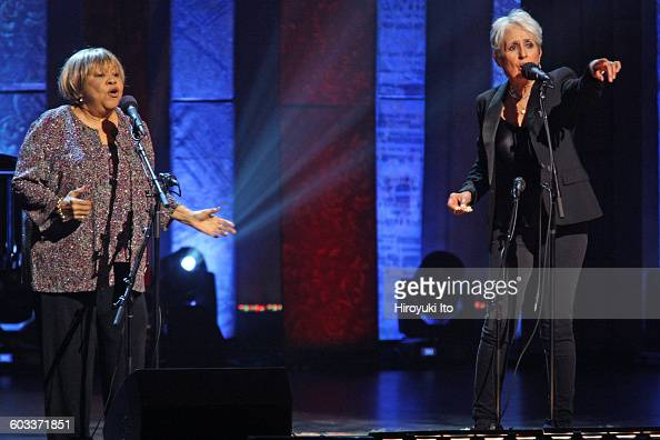 'Joan Baez 75th Birthday Celebration' at Beacon Theater on Wednesday night January 27 2016This imageJoan Baez right with Mavis Staples performing...