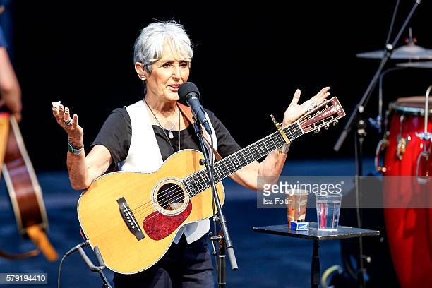 Joan Baez performs at the Joan Baez Concert during the Thurn Taxis Castle Festival 2016 on July 22 2016 in Regensburg Germany