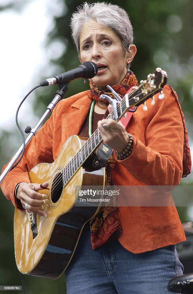 Joan Baez performs during the Strictly Bluegrass 5 Festival at Speedway Meadow in Golden Gate Park October 1, 2005 in San Francisco, California.