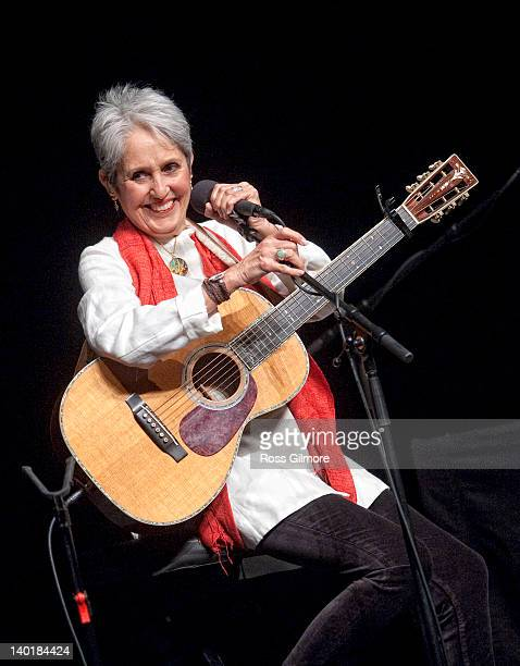 Joan Baez performs on stage at Glasgow Royal Concert Hall on February 29 2012 in Glasgow United Kingdom