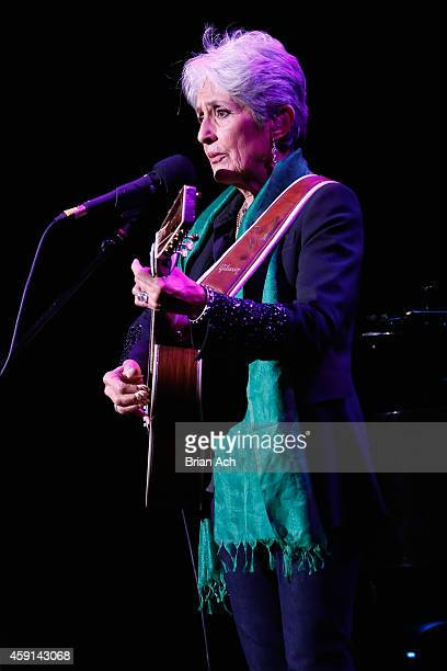 Joan Baez performs onstage at the ASCAP Centennial Awards at Waldorf Astoria Hotel on November 17 2014 in New York City