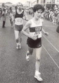 Joan Benoit during the Falmouth Road Race