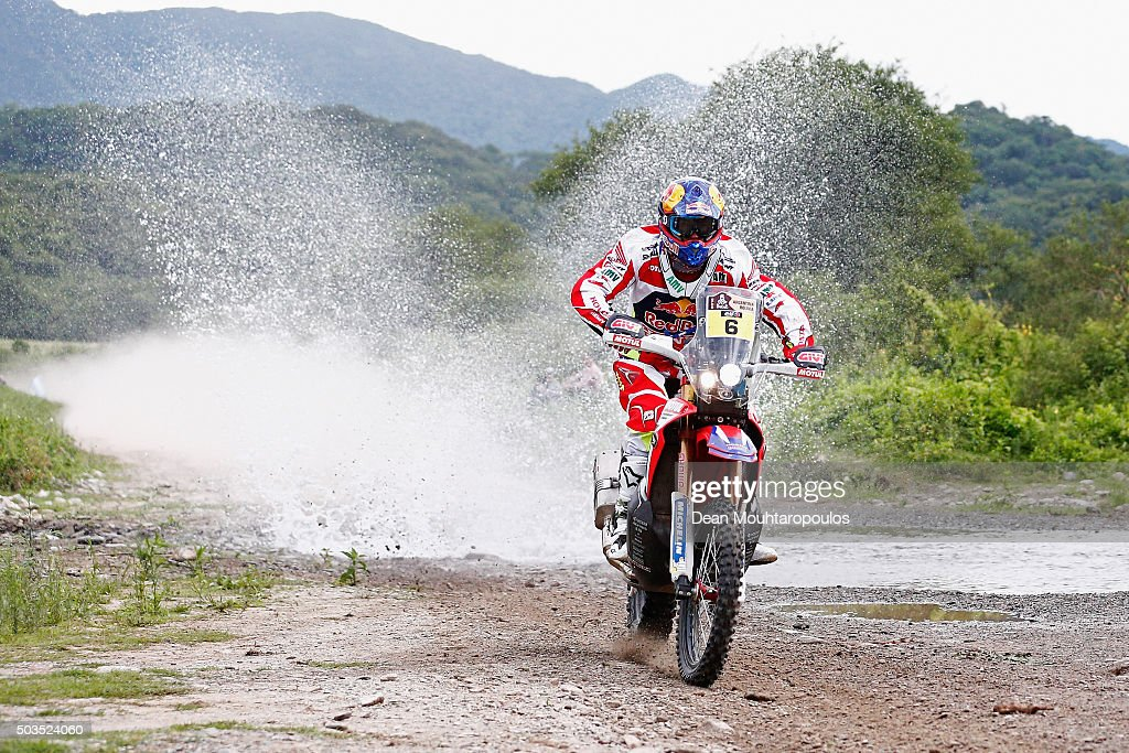 Joan Bort Barreda of Spain riding on and for HONDA CRF450RALLY TEAM HRC competes on day three of the 2016 Dakar Rally between Termas de Rio Hondo and Jujuy on January 5, 2016 near San Miguel de Tucuman, Argentina.
