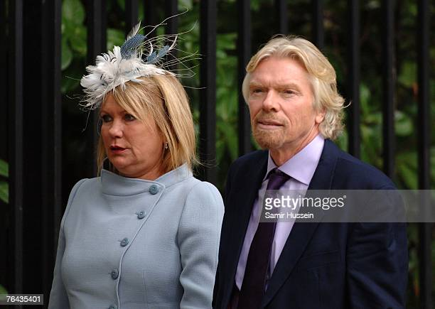 Joan Branson and Richard Branson arrive at the 10th anniversary memorial service for Diana Princess Of Wales held at the Guards Chapel on August 31...