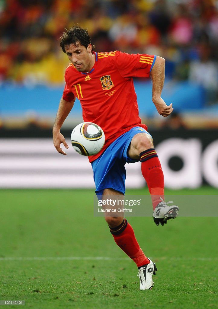 Joan Capdevila of Spain controls the ball during the 2010 FIFA World Cup South Africa Group H match between Spain and Switzerland at Durban Stadium on June 16, 2010 in Durban, South Africa.