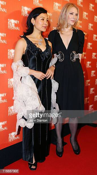 Joan Chen and Cate Blanchett during 2007 Sydney Film Festival Opening at State Theatre Market Street in Sydney NSW Australia